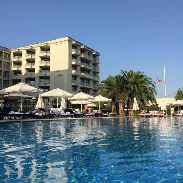 swimming pool at Ciragan Palace Kempinski