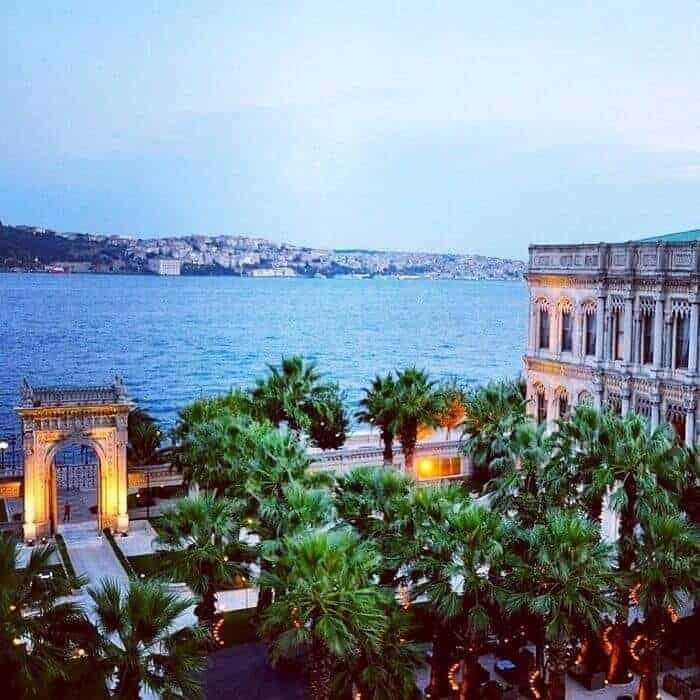 View from suite at Ciragan Palace Kempinski Istanbul