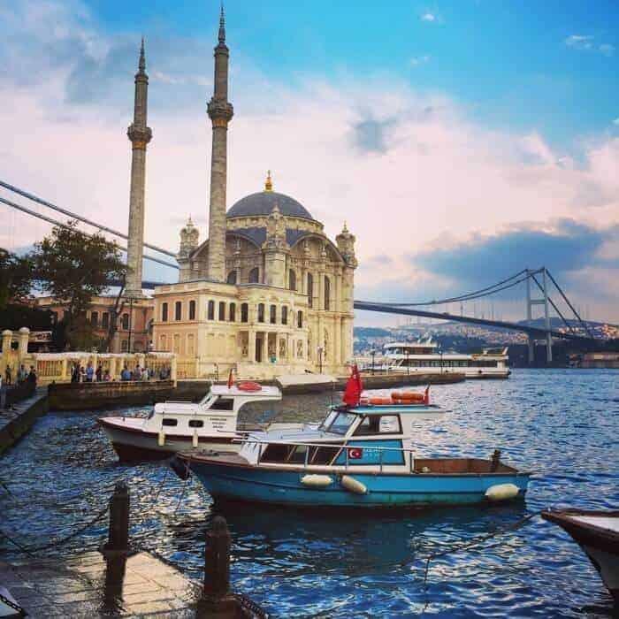 Ortakoy Mosque officially known as Büyük Mecidiye Camii