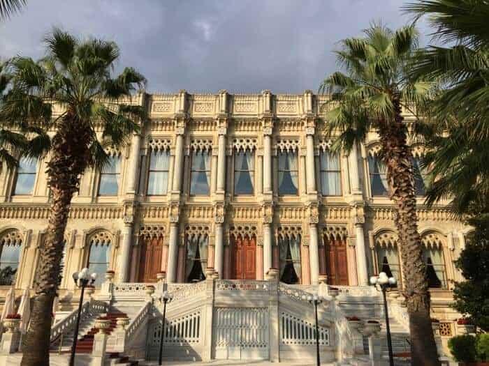 Facade of the Ciragan Palace Istanbul.