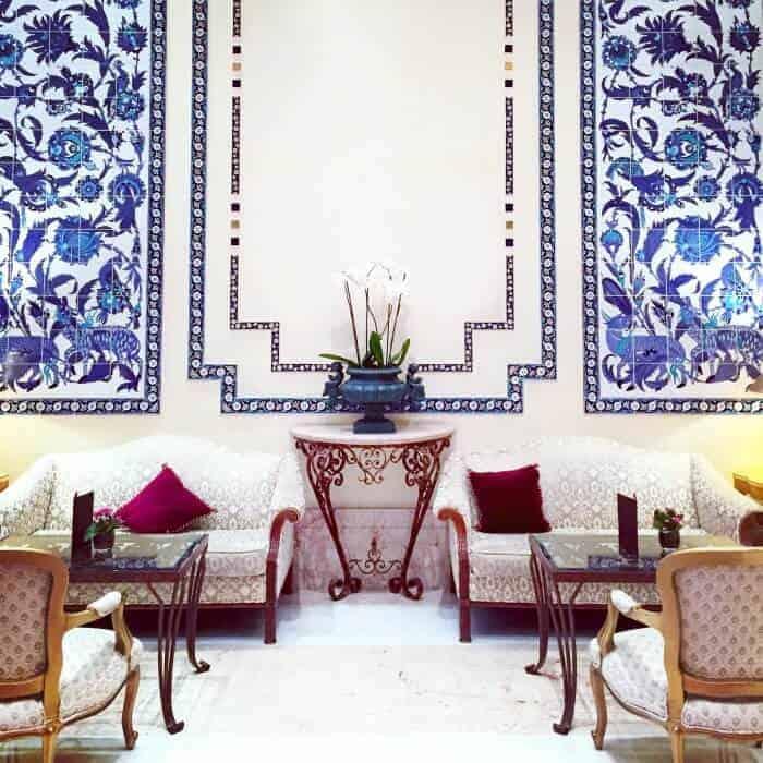 Beautiful lounge at Ciragan Palace Kempinski Istanbul