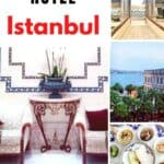 Collage of images of Kempinski Hotel Istanbul.