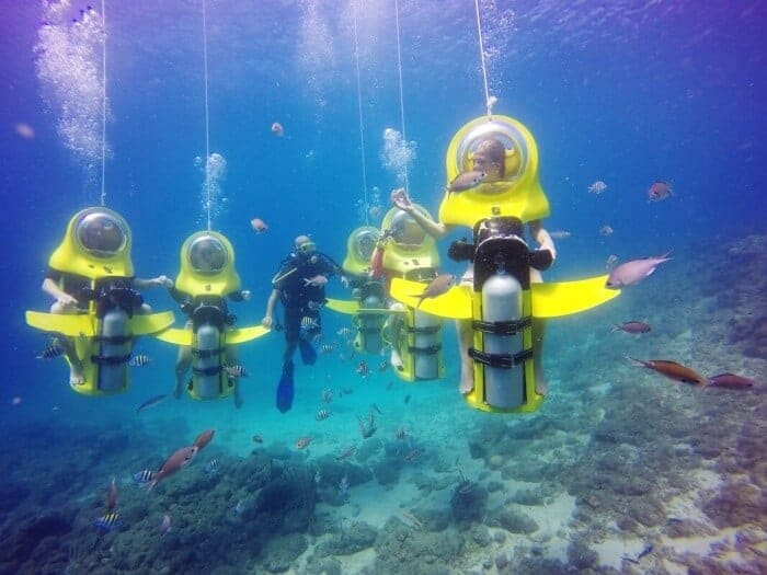 View the underwater reef of Curacao on an Aquafari