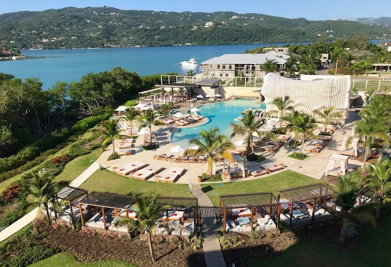 View of swimming pool at all-inclusive Breathless Montego Bay Resort & Spa