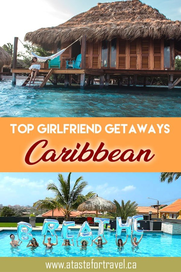 If you're looking for the best girlfriend getaways in the Caribbean, here are some top picks for a bachelorette party, reunion or anti-Valentine's Day tropical escape. #Caribbean