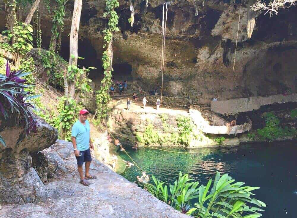 Cenote Zaci is a natural sinkhole in the heart of Valladolid