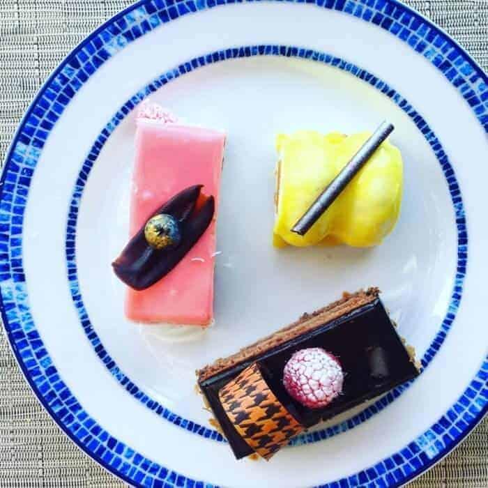 Mango, chocolate and strawberry desserts at Grand Velas Riviera Maya Playa del Carmen