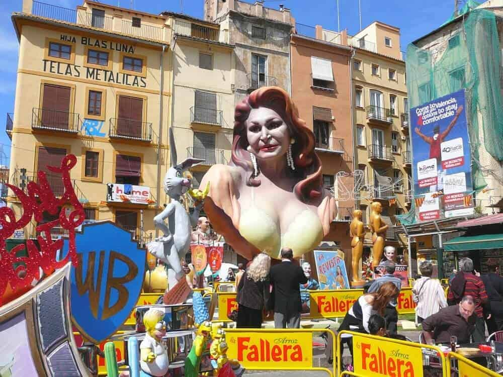 Falla Sculpture in Valencia Spain