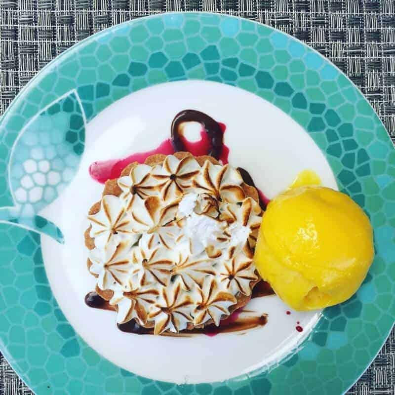 Pretty dessert at Secrets Silversands