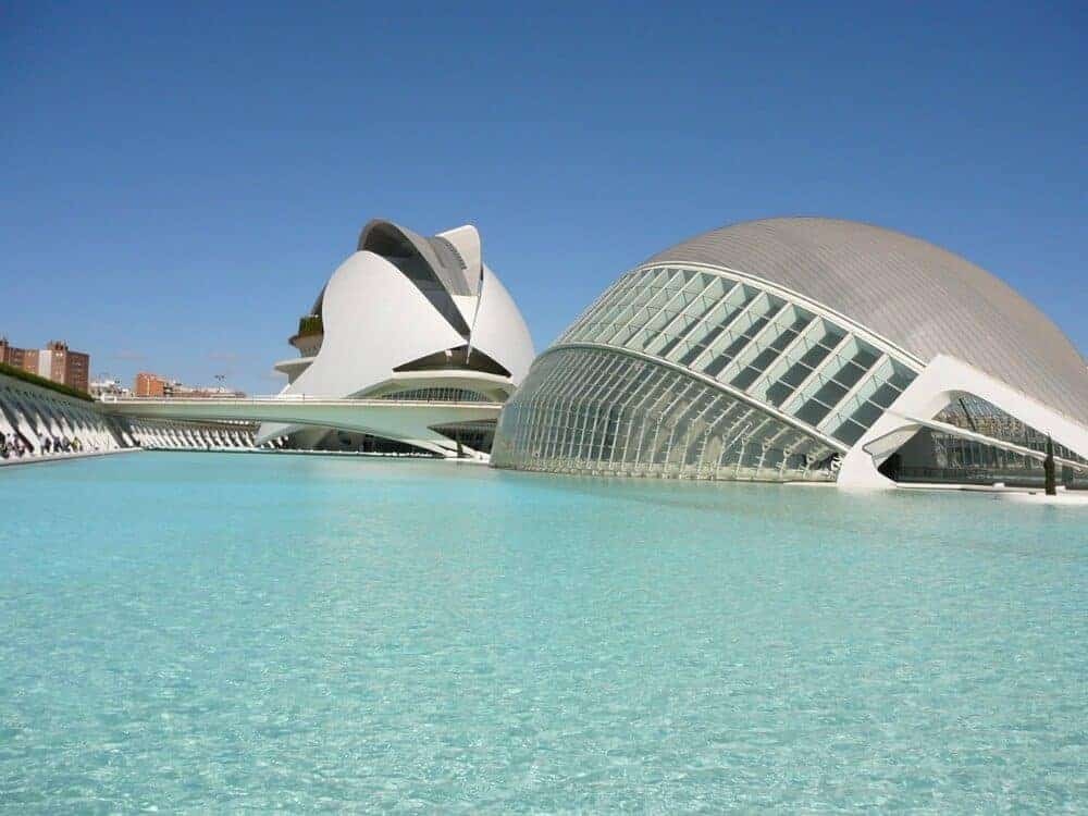 Modern architecture of Valencia