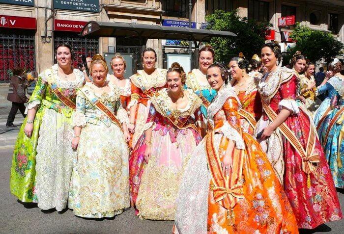 Processions during Las Fallas of Valencia