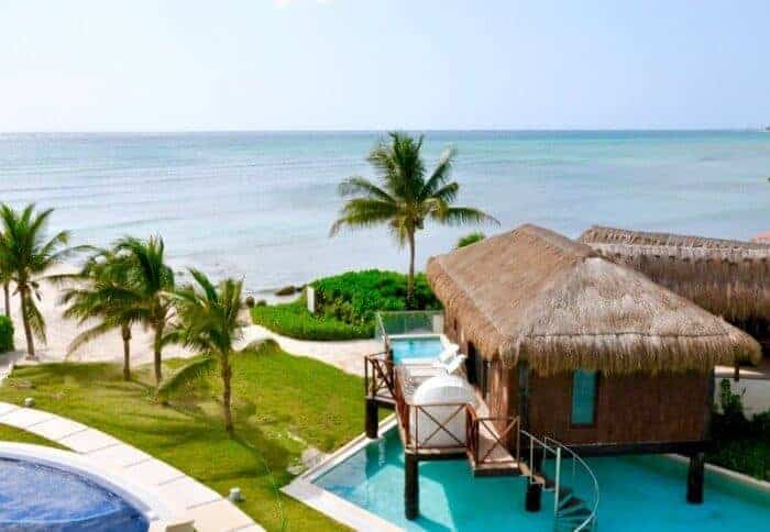 A luxury bungalow at Secrets Silversands near Cancun