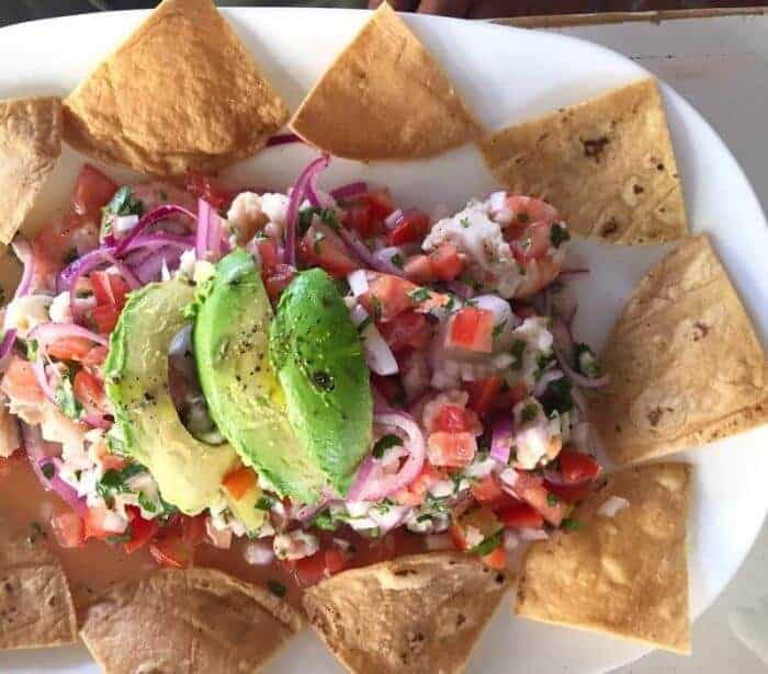 Fresh ceviche at el Guero, one of the best places to eat in Playa del Carmen