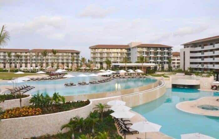 Enjoy three levels of swimming pools including two infinity pools at Dreams Playa Mujeres