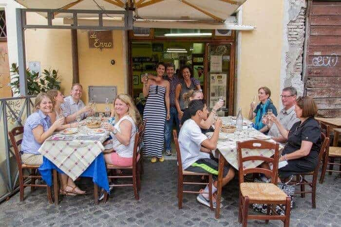 Trattoria Da Enzo is a tasty stop in Trastavere Rome on the Eating Europe Food Tour