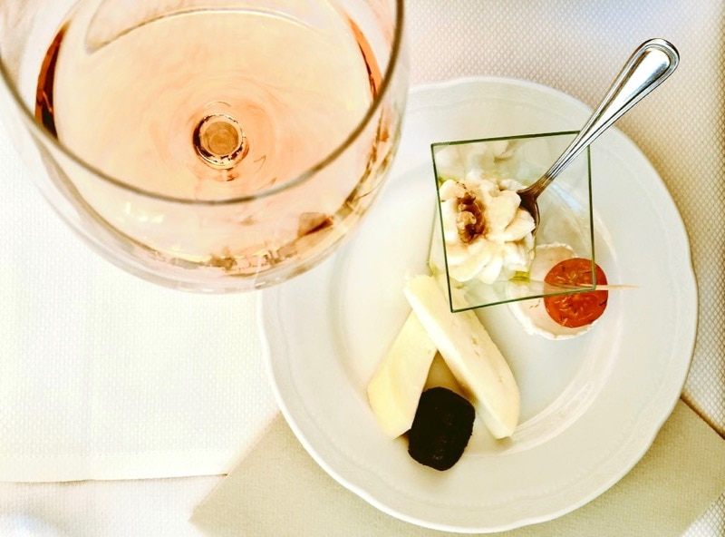 Tuscan wine and cheese on a Florence Food Tour