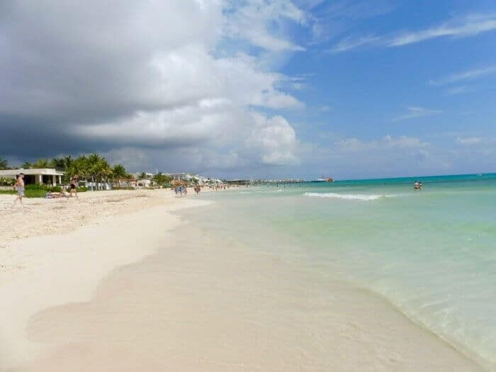 A beautiful white sand beach in Playa del Carmen Mexico