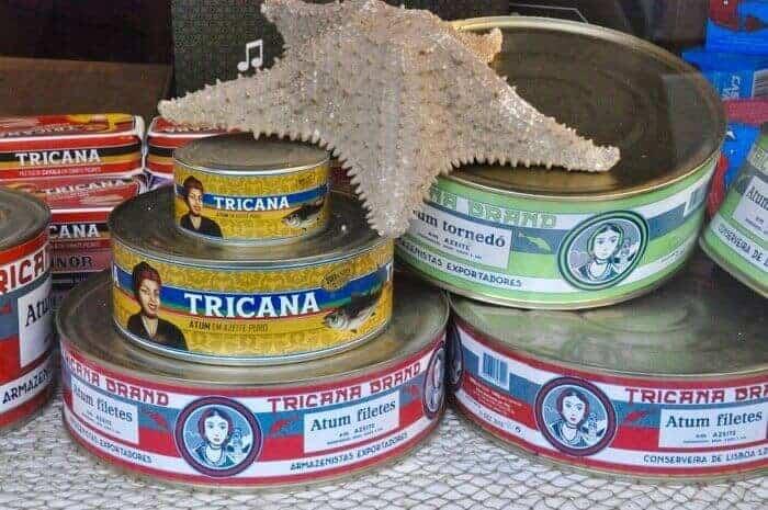 Cans of tuna at Conserveira de Lisboa