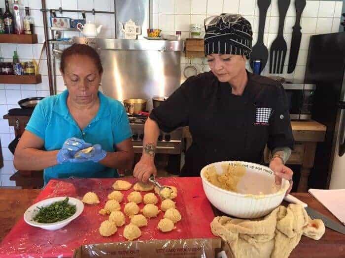 Chef Annelotte at Old Man and the Sea Ocean Villas Aruba