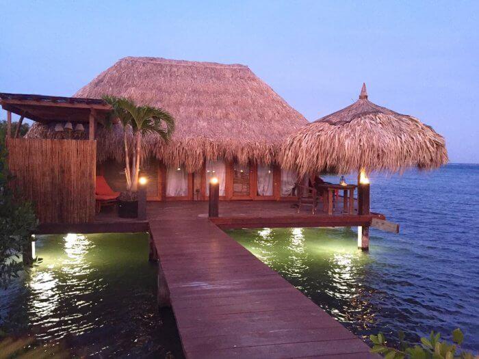 Jojoli overwater villa at The Old Man and the Sea Ocean Villas Aruba