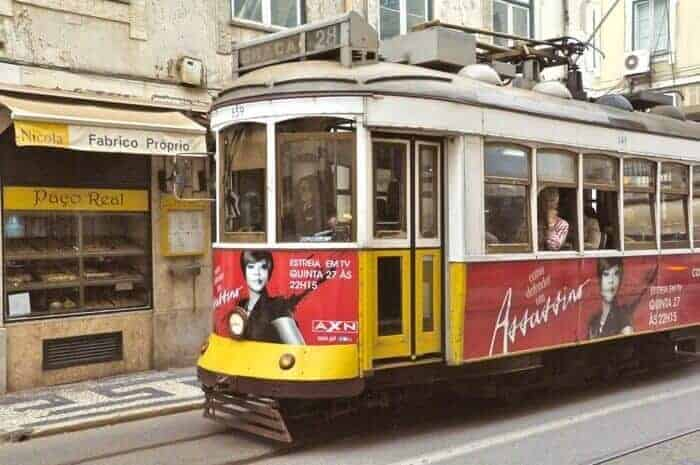 Hop on a historic tram to buy sardines in Lisbon