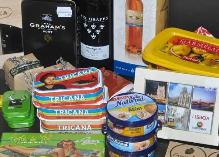 Lots of food souvenirs on the Iberian Peninsula