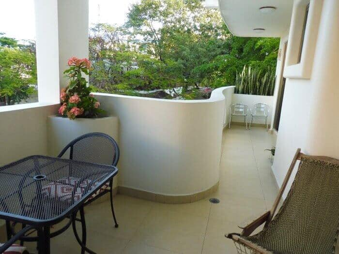 Private terrace at La Dolce Vita apartments in Playa del Carmen Mexico