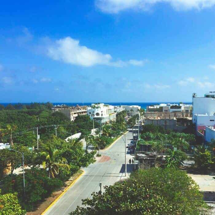 View from rooftop of Coral Suites in Playa del Carmen Mexico