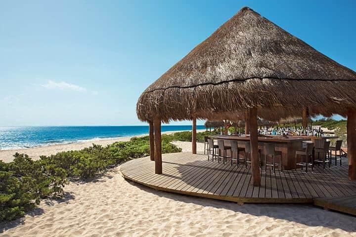 Hideaway Beach Bar at Dreams Playa Mujeres Cancun Mexico. (Credit AMResorts)