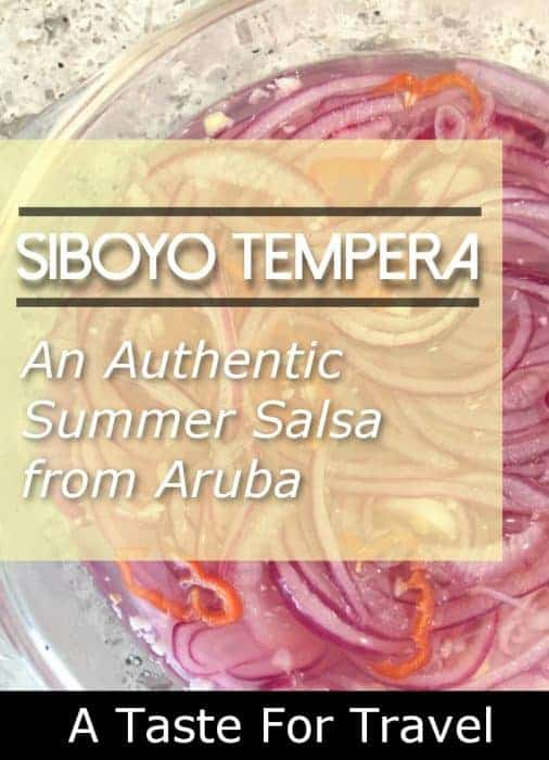 an authentic recipe for siboyo tempera from Aruba - ideal for topping chicken or seafood