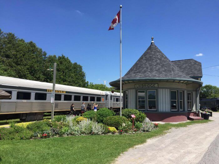 The York-Durham Heritage Railway is a heritage excursion train operating along a 20-kilometre route between the quaint towns of Stouffville and Uxbridge
