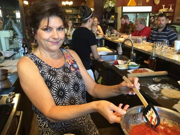 Lisa Hutchinson at Passionate Cook's Essentials in Uxbridge.