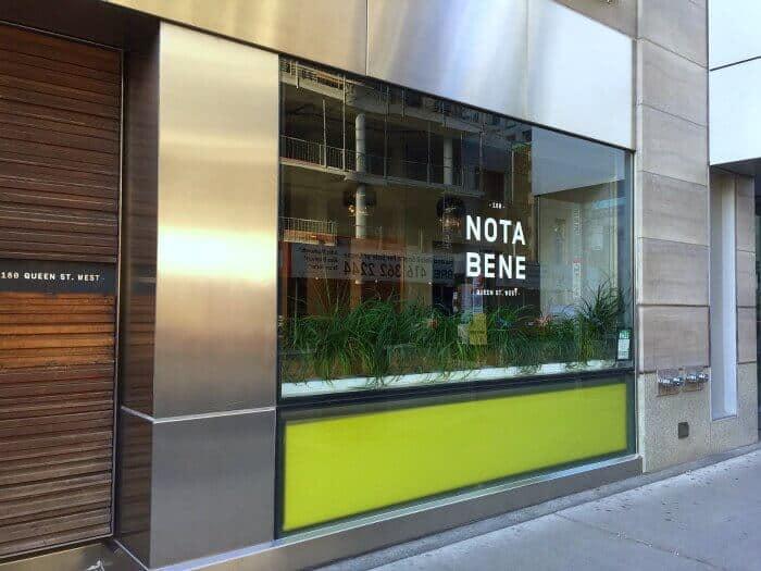Nota Bene Restaurant Toronto