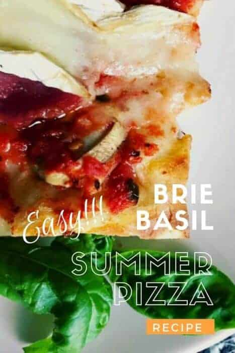 Easy recipe for delicious Brie and basil pizza on a craft beer crust