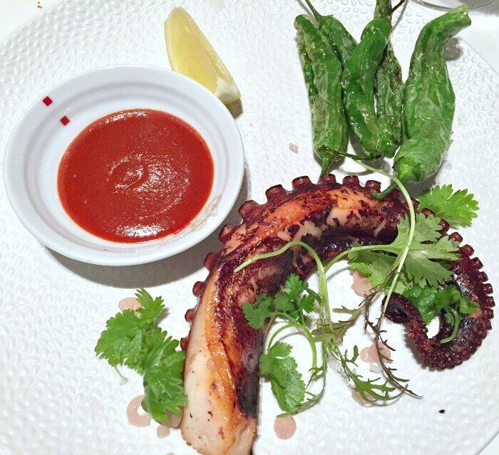 Tunisian Octopus served with miso-gochujang sauce Nota Bene