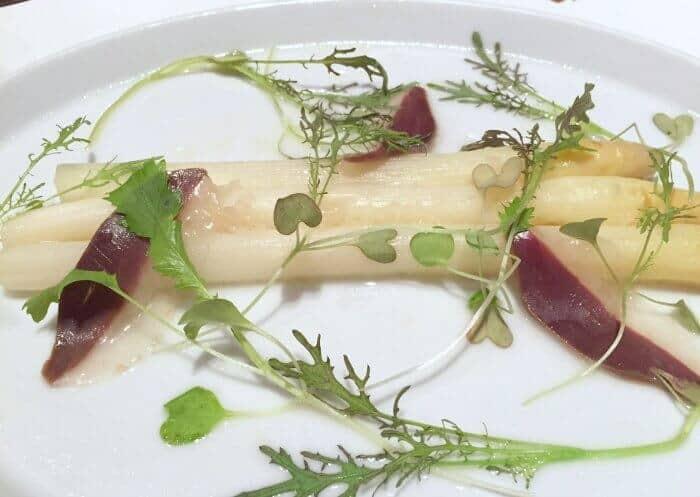 white ontario asparagus at Nota Bene