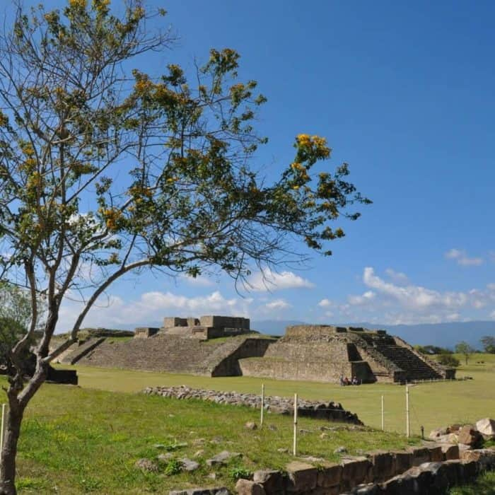 Monte Albán is an outstanding pre-Columbian ceremonial centre in Oaxaca
