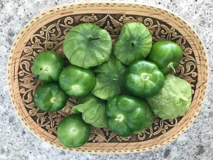 Tomatillos known as miltomate in Guatemala