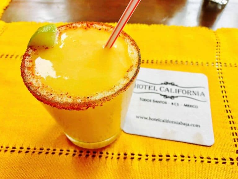 Mango cocktail at Hotel California Baja California