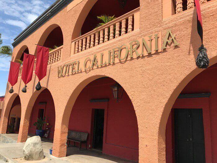 Beautiful and historic Hotel California Todos Santos Mexico