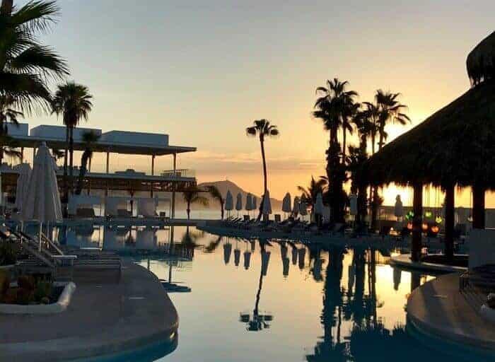 Main swimming pool at Paradisus Los Cabos Mexico