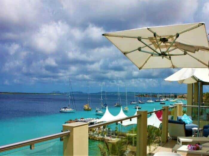 View from Terramar Apartments in Bonaire