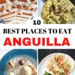 Collage of Anguilla food with text overlay for Pinterest.