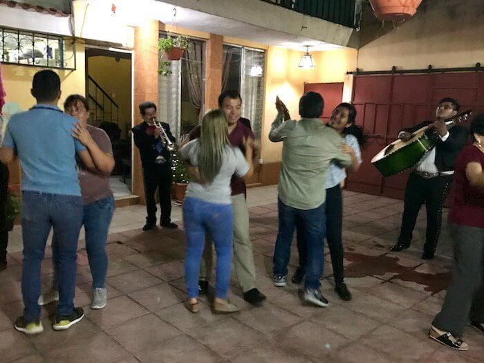 Mariachi band at a birthday party in Guatemala City