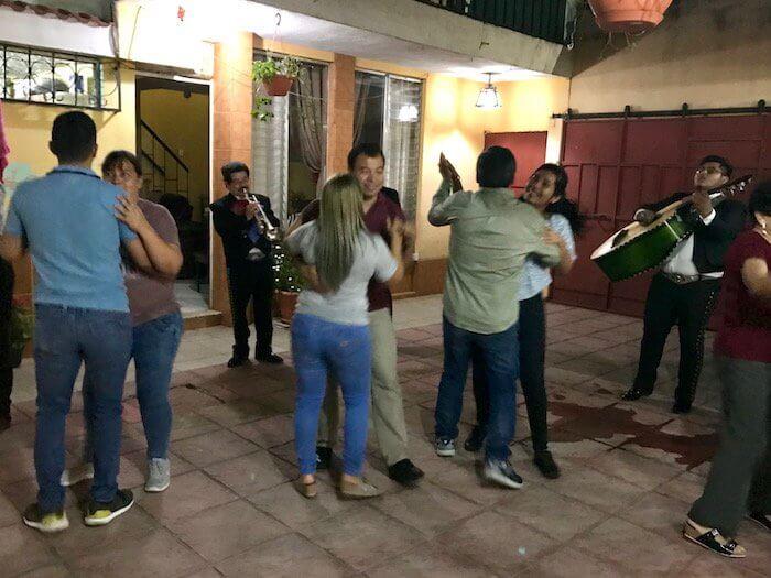 Mariachi band at a birthday party in Guatemala City