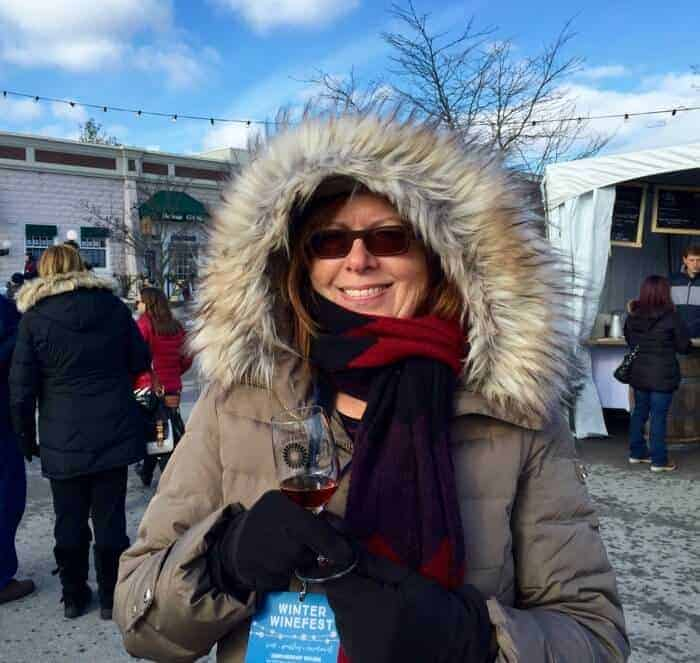 Michele Peterson of A Taste for Travel at Twenty Valley Winter Winefest