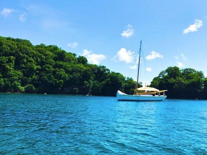 Sailboat in Dragon Bay Grenada
