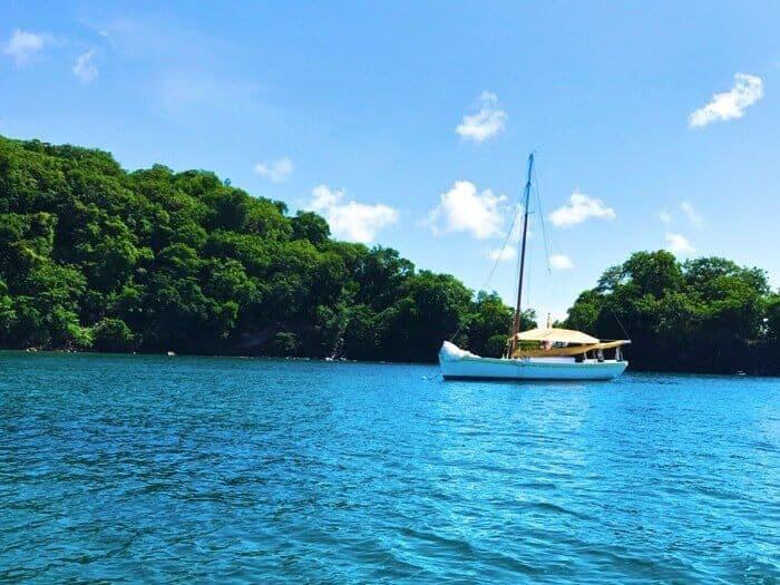 Sailboat in Dragon Bay Grenada