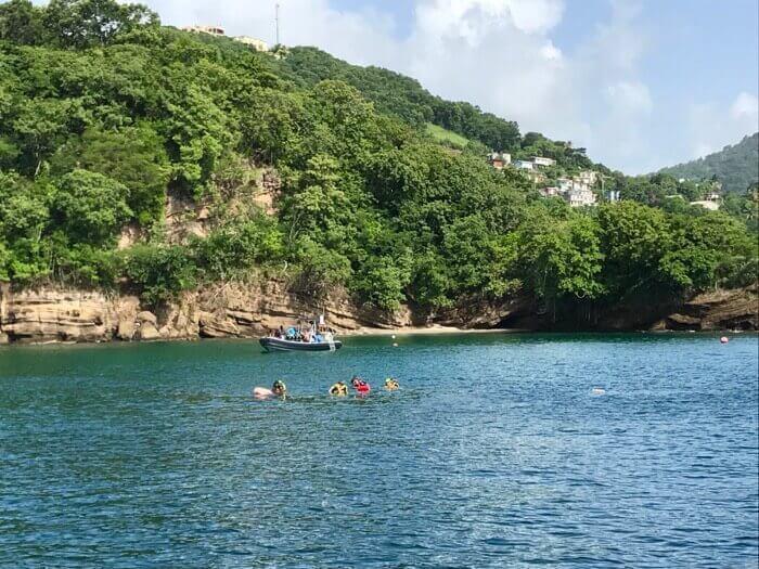 Snorkelling at Grenada Underwater Sculpture Park