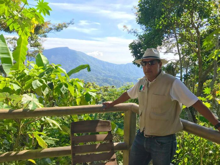 Guide Tomas Vicente Contreras of Homie Tours at Three Levels Tour to Pluma Hidalgo